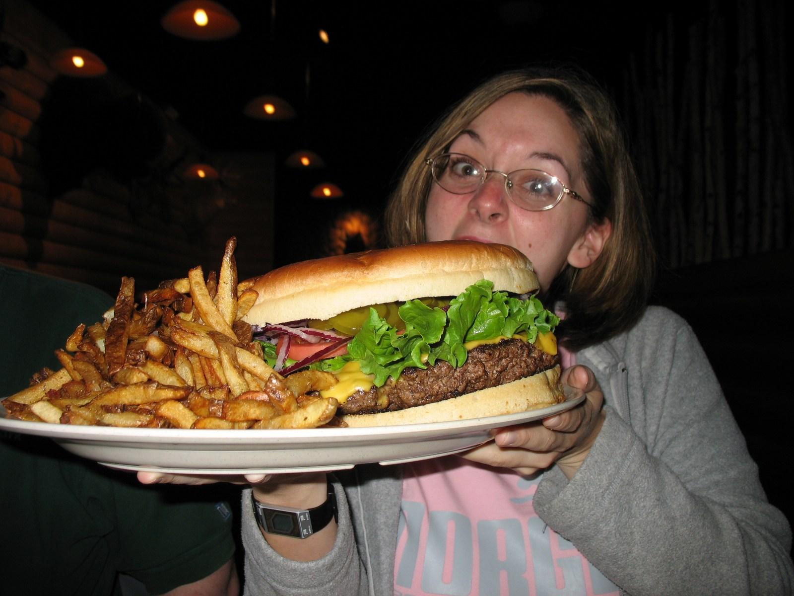 Sasquatch burger from Bigfoot Lodge