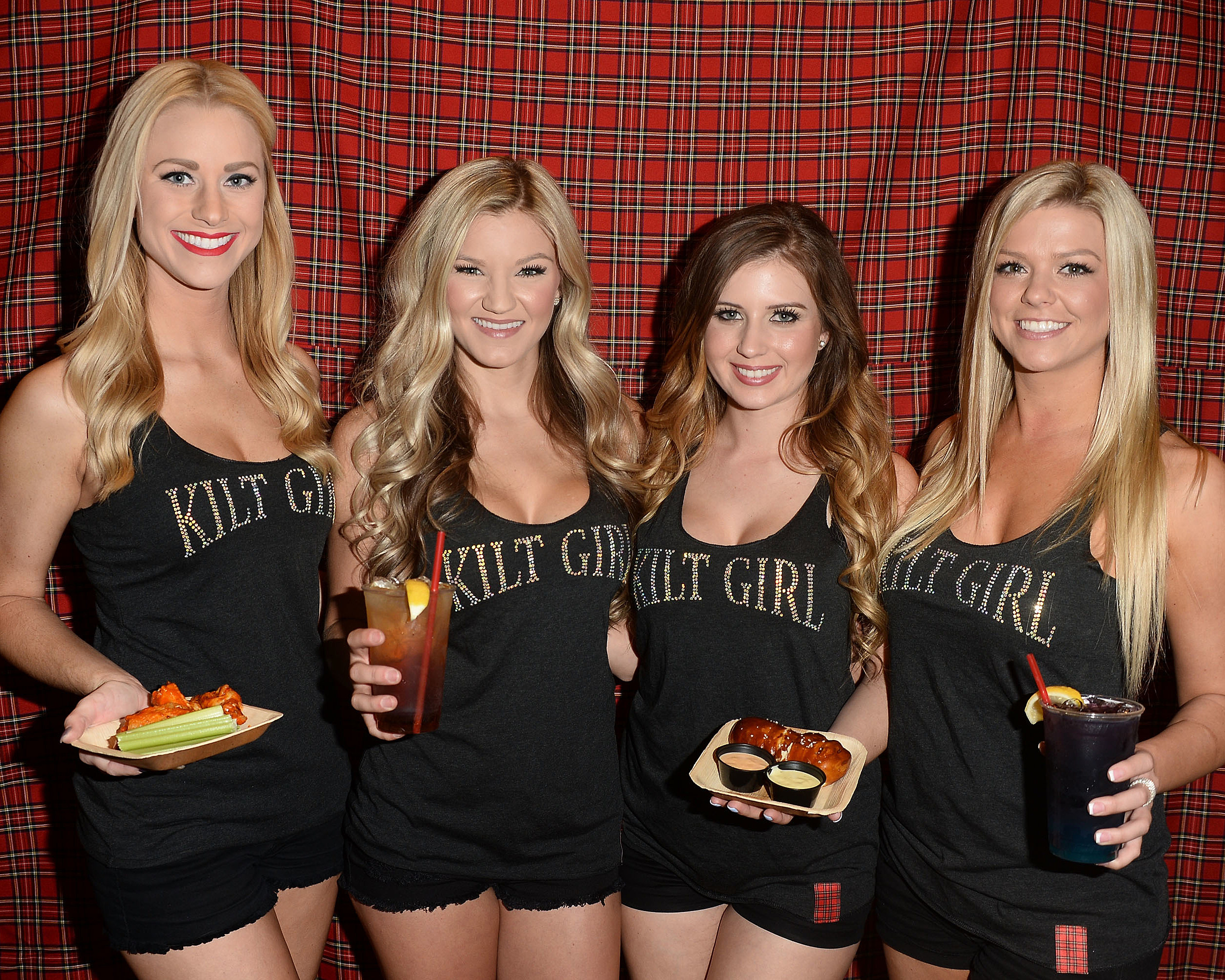 Tilted Kilt Girls In Black