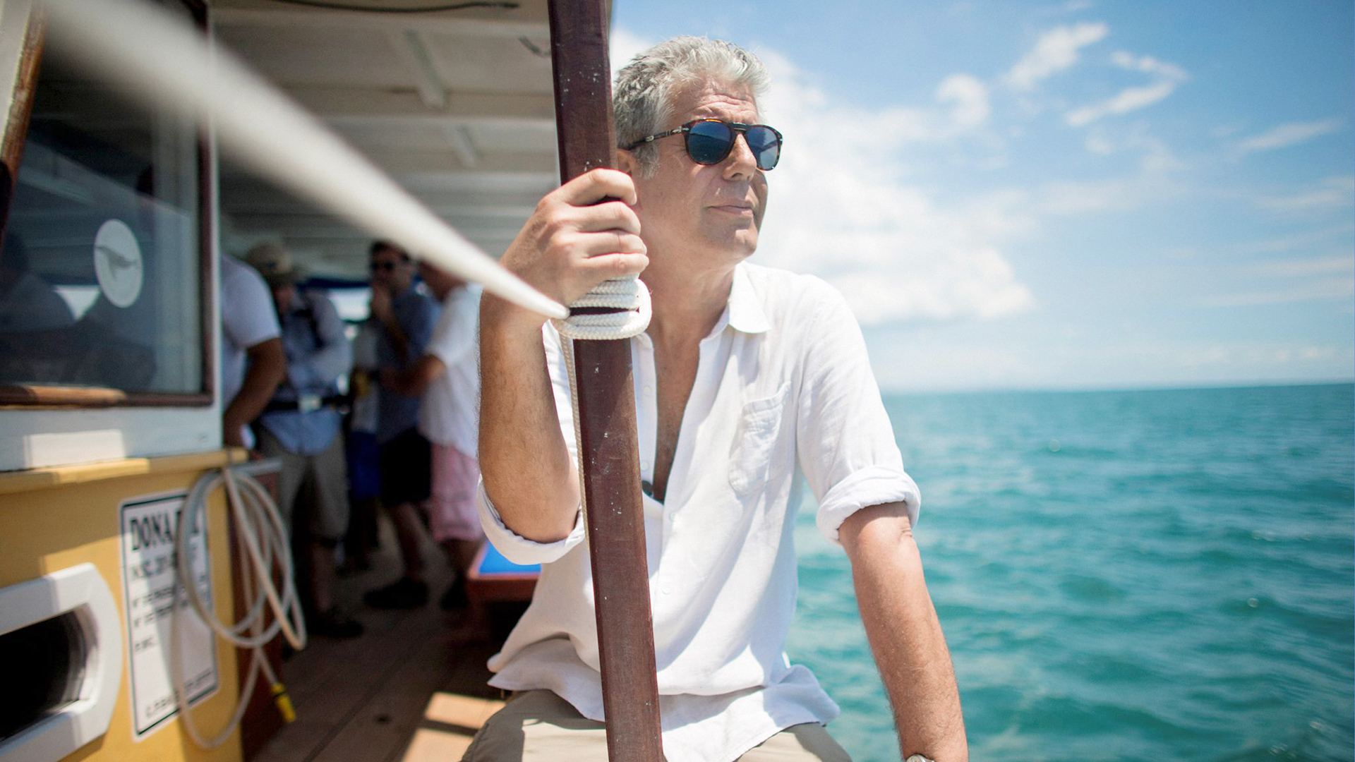 Anthony Bourdain –  boat
