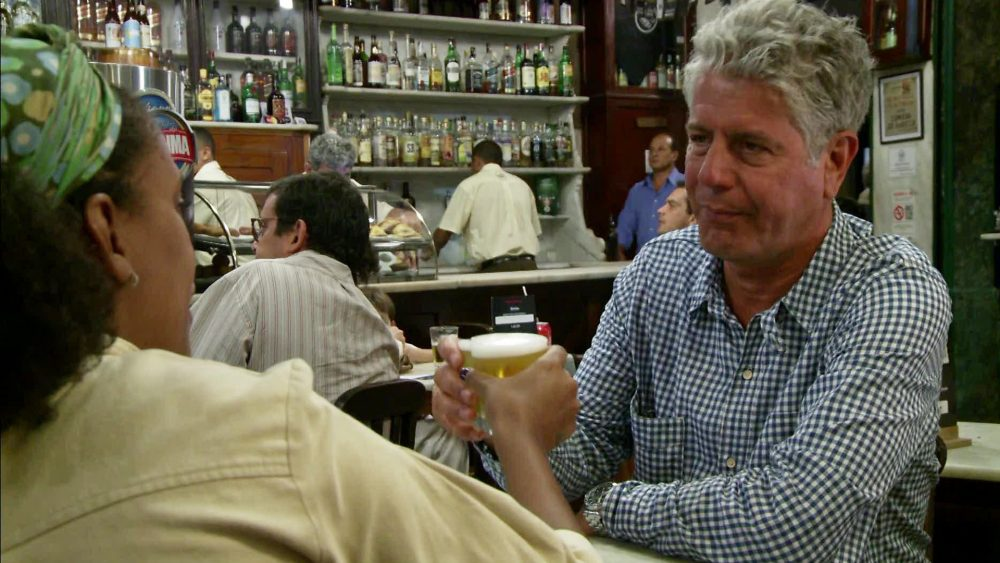 Anthony Bourdain -  drinking