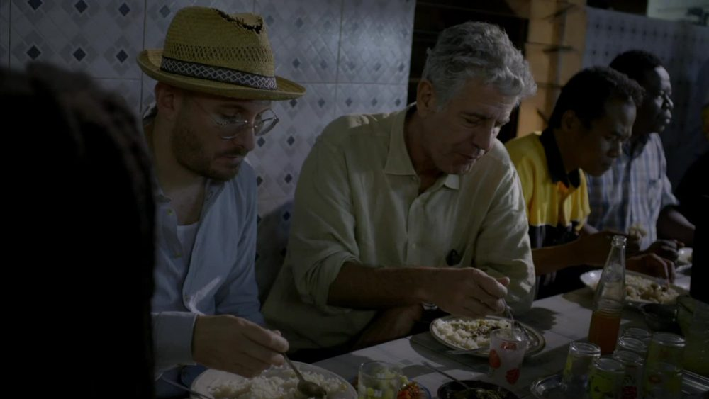 Anthony Bourdain -  eating