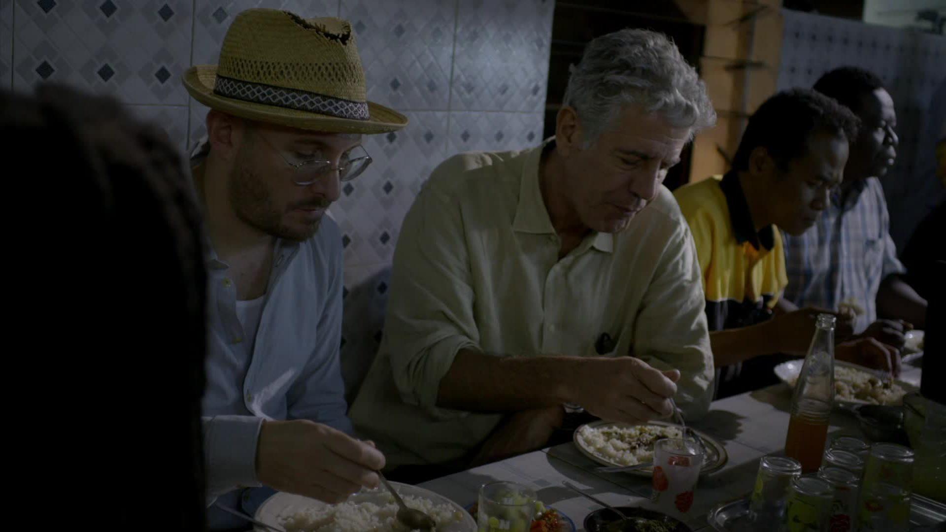 Anthony Bourdain –  eating