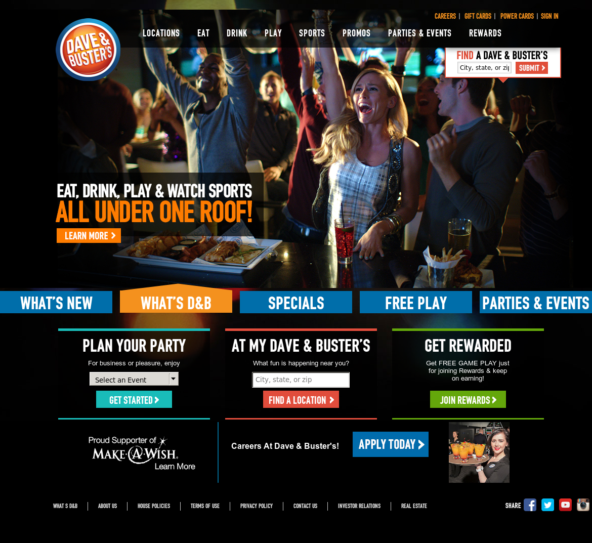 Dave & Buster's Concept