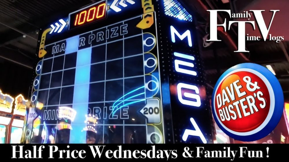 It's half price at Dave & Buster's on Wednesdays