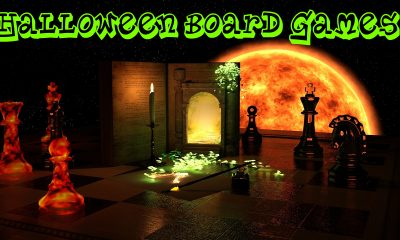 halloween themed games with text saying halloween board games