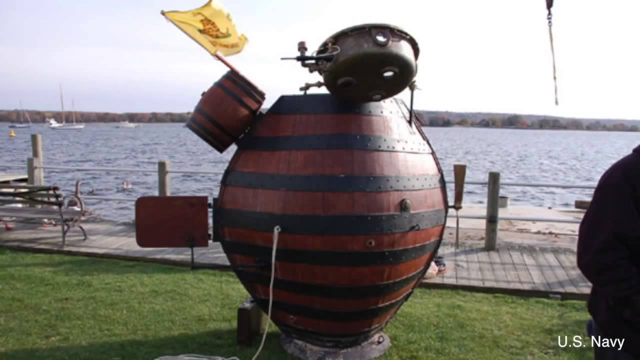 The Turtle was the first combat submarine.