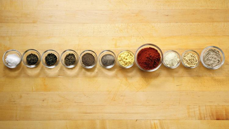 7. secret herbs and spices
