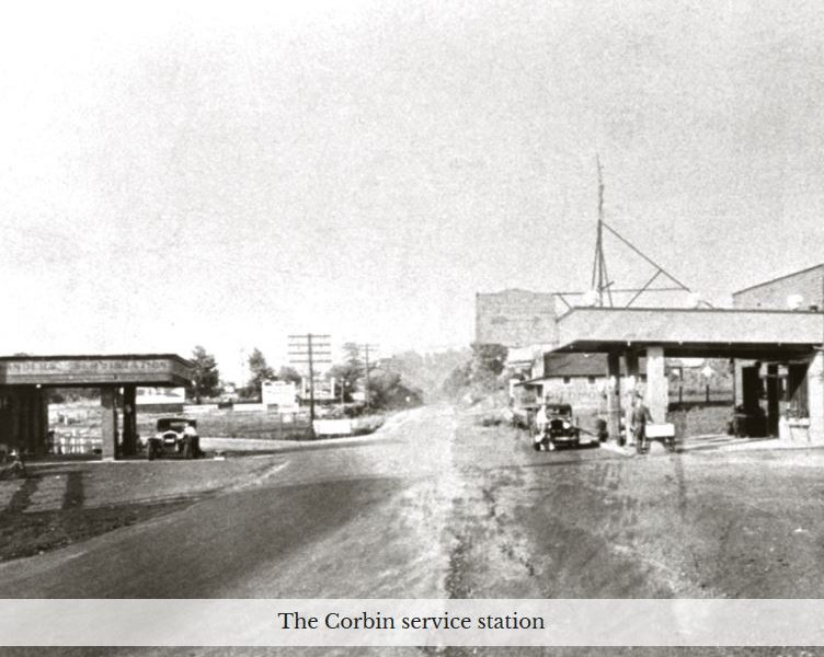 Corbin service station site of signage dispute