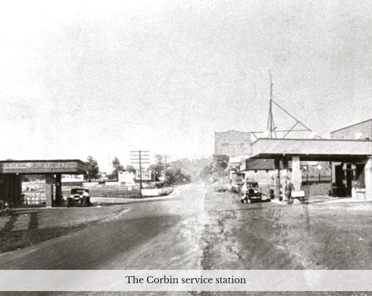 Corbin service station site of signage dispute