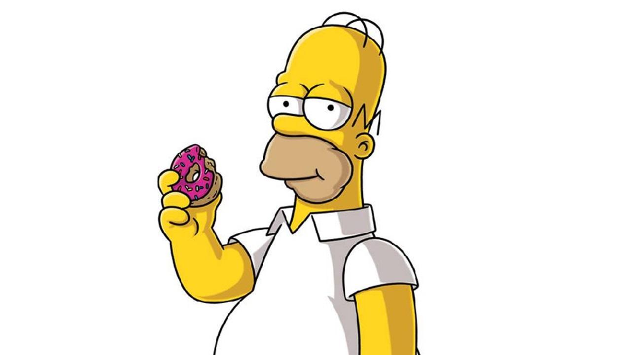characters food homer simpson cookie