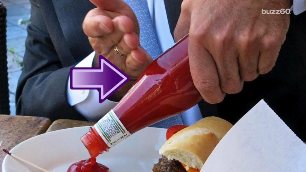 ketchup bottle trick