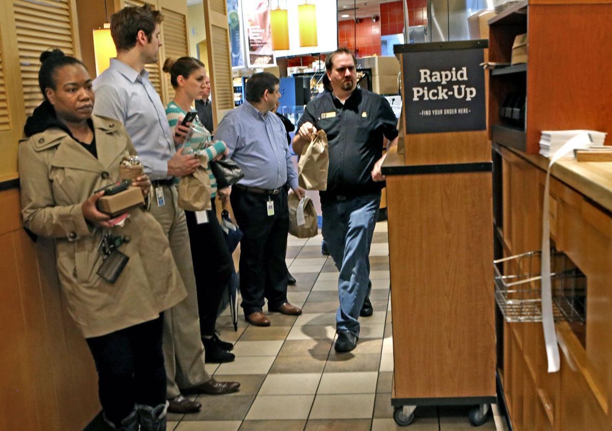 Panera Bread customer lineup