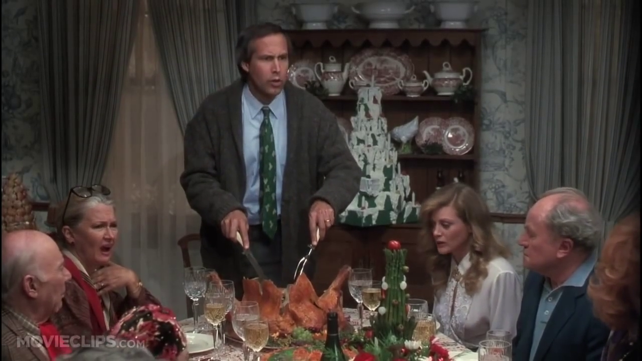 christmas movie food moments christmas vacation turkey