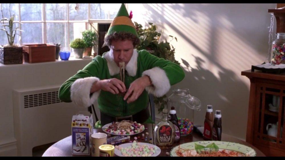 christmas movie food moments elf spaghetti