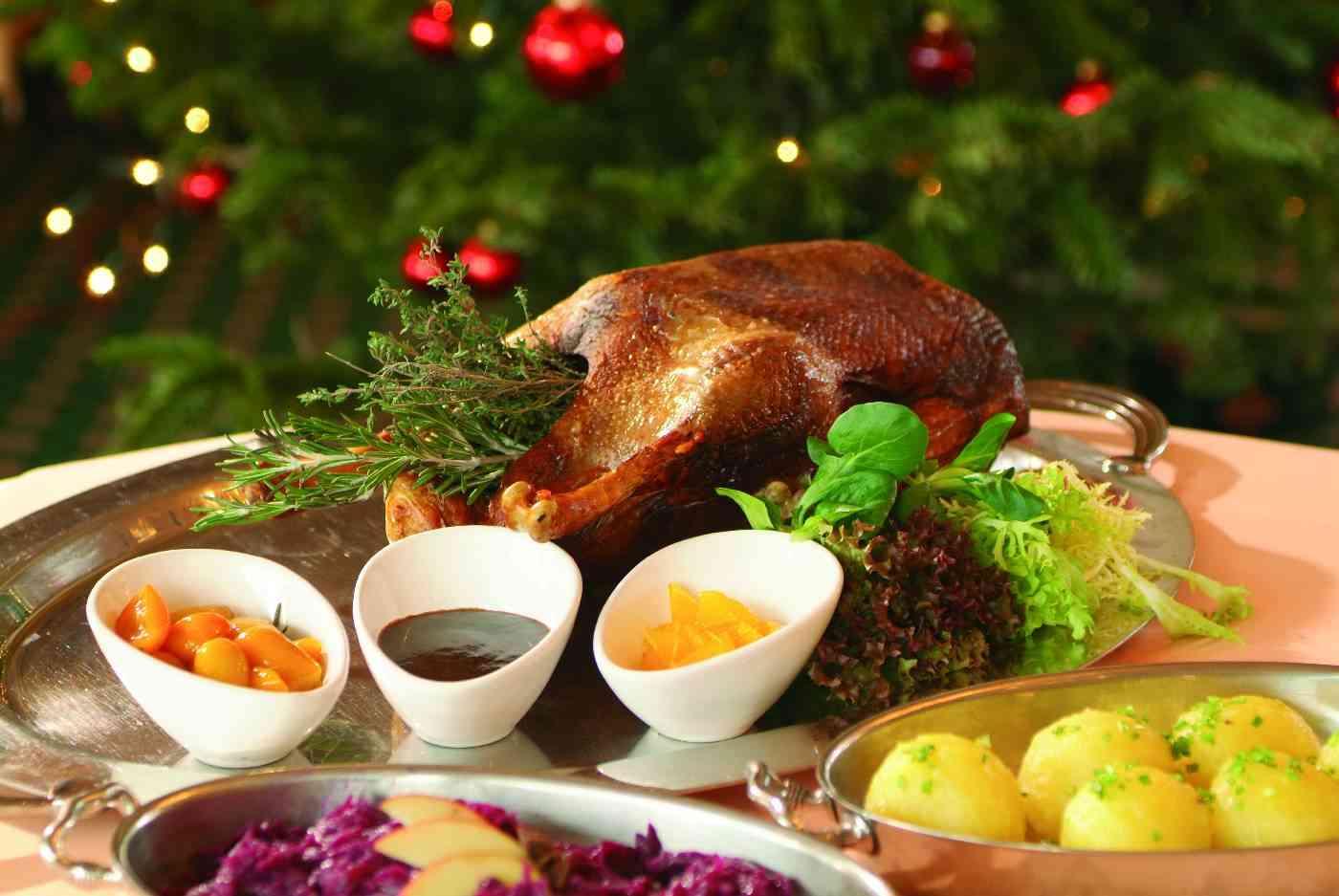 german christmas roast goose