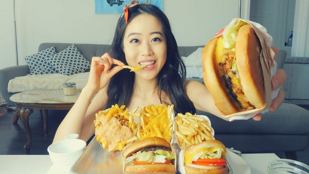 in n out mukbang stephanie soo
