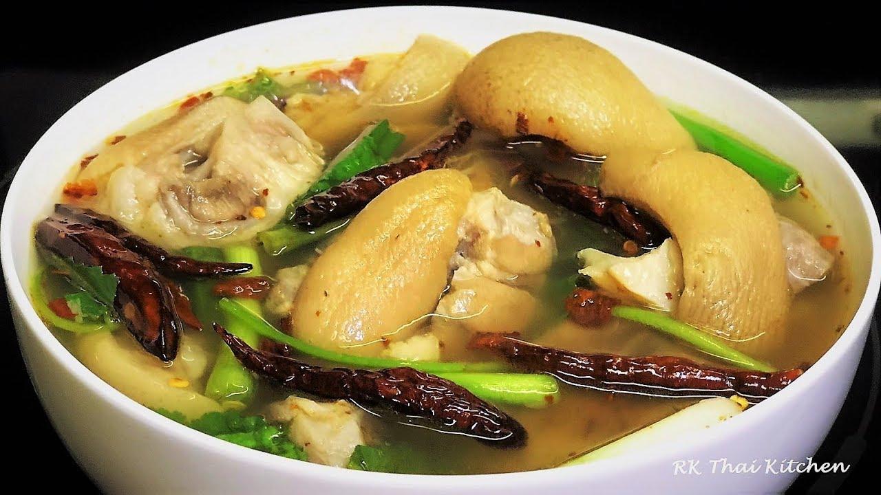 Tom laud moo is a popular Thai breakfast.