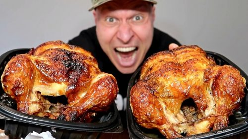 See how big those Costco rotisserie chickens are