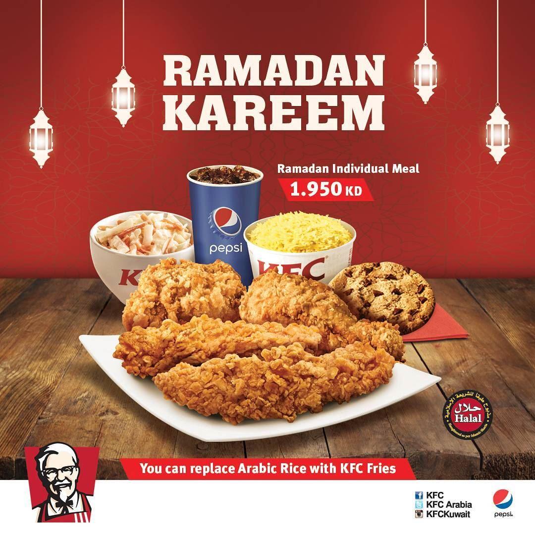 Ramadan meal KFC Arabia