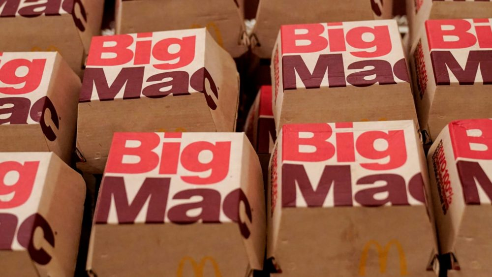 Big Macs in packaging