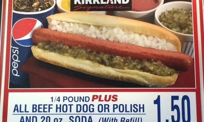 The Costco food court hot dog and drink combo is so impossibly cheap