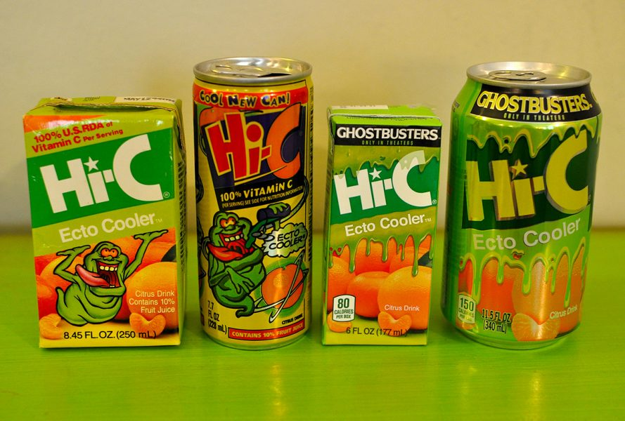 Hi-C Ecto Cooler cans and juice boxes