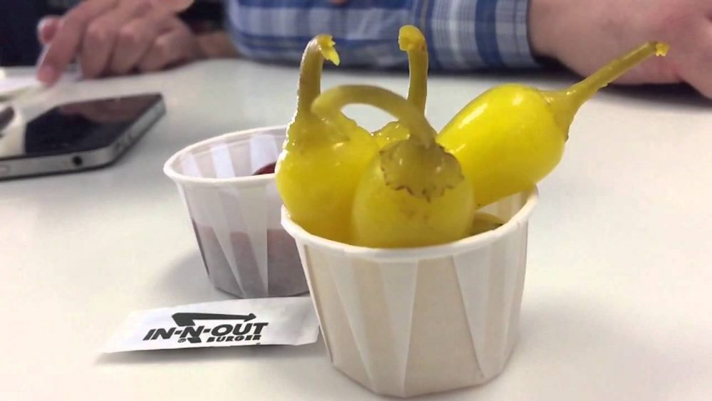 In-N-Out's peppers on the side