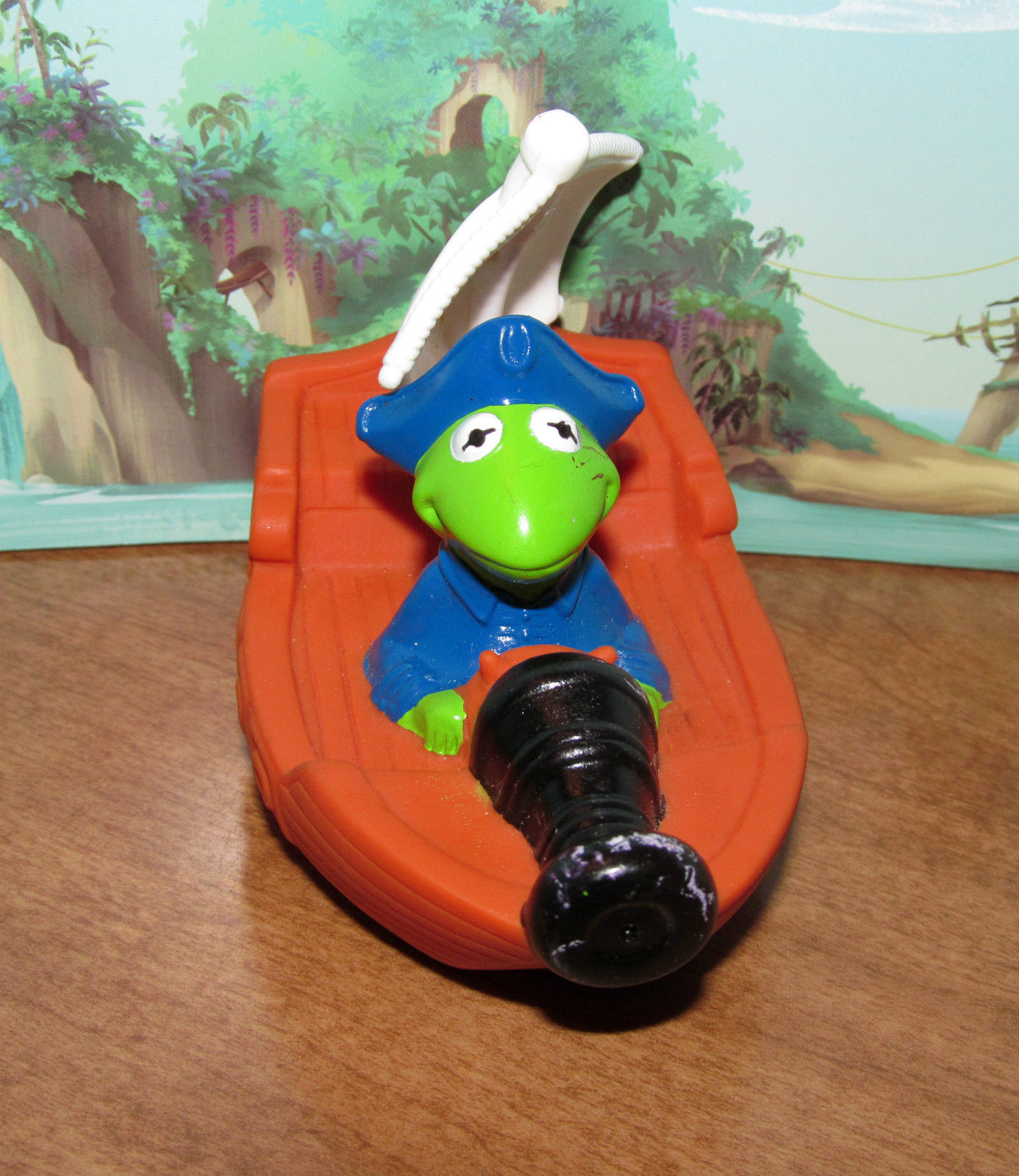 kermit the frog muppet treasure island bath toy