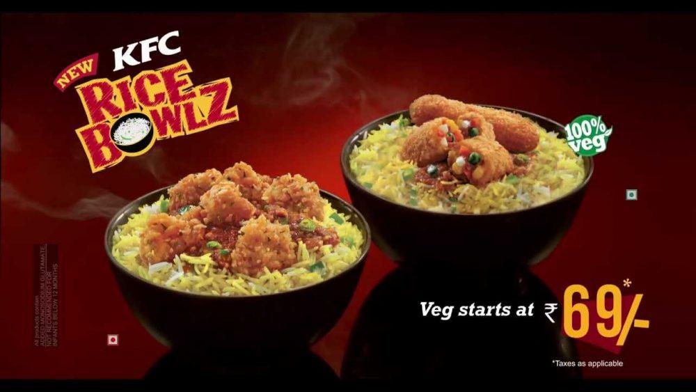 KFC rice bowl ad