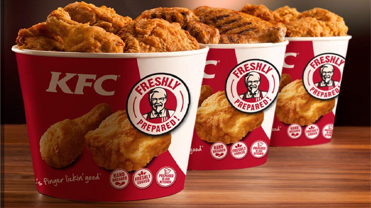 KFC chicken buckets