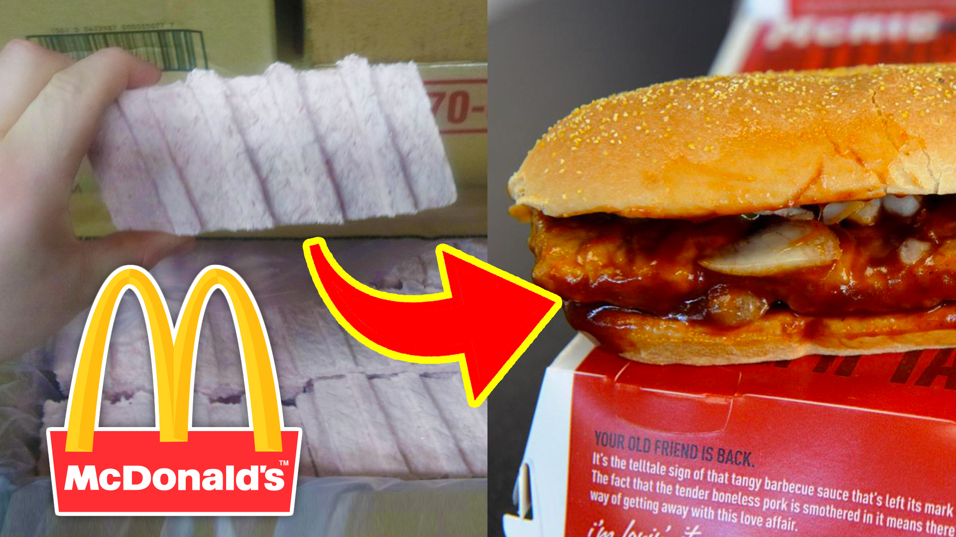 McDonald's McRib - 10 Fast Food Items Employees Told You To Avoid!