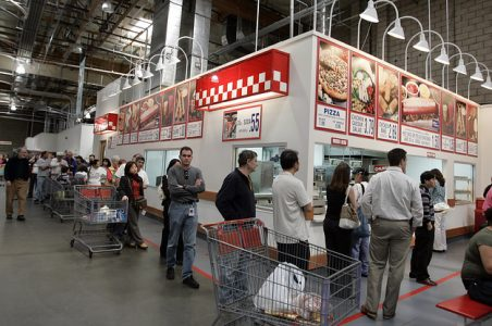 Lineup for the Costco food court
