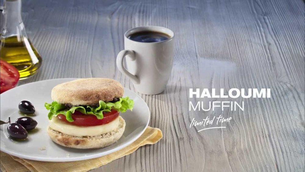 Halloumi muffin McDonald's Qatar