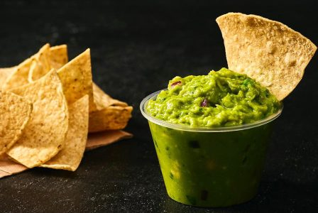 Chipotle guacamole and chips dance