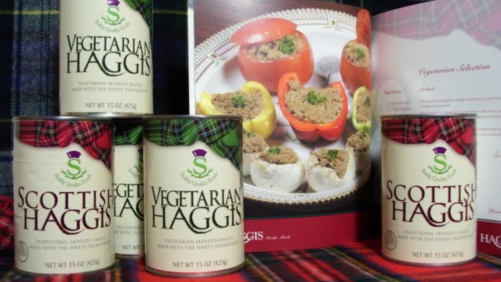 cans of various kinds of haggis