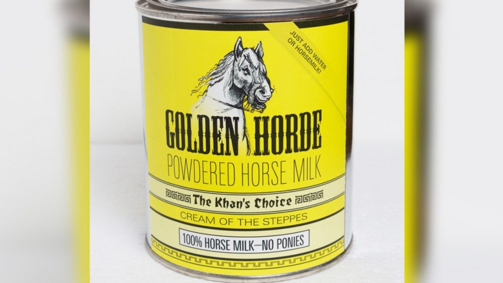 can of powdered horse milk