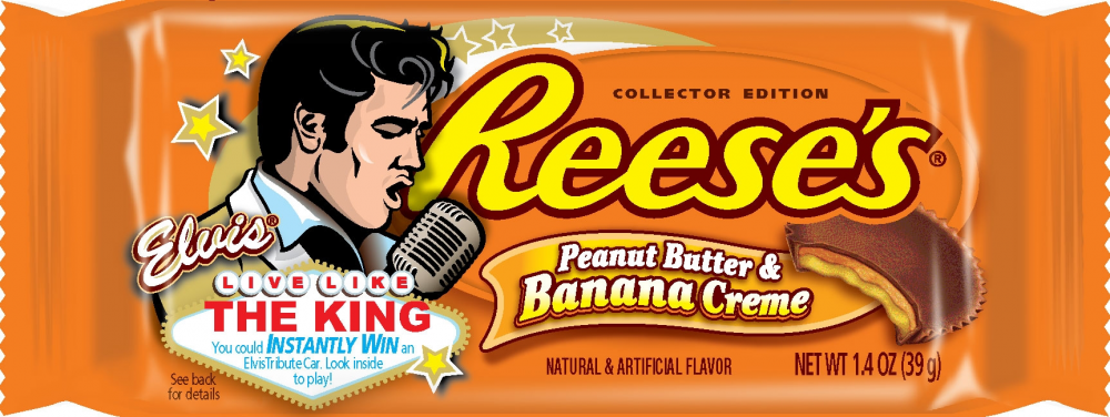 Evis Presley Reese's Pieces Peanut Butter Banana Creme Cup
