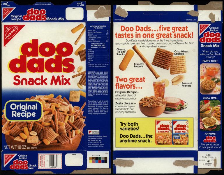 doo dads snack mix original packaging