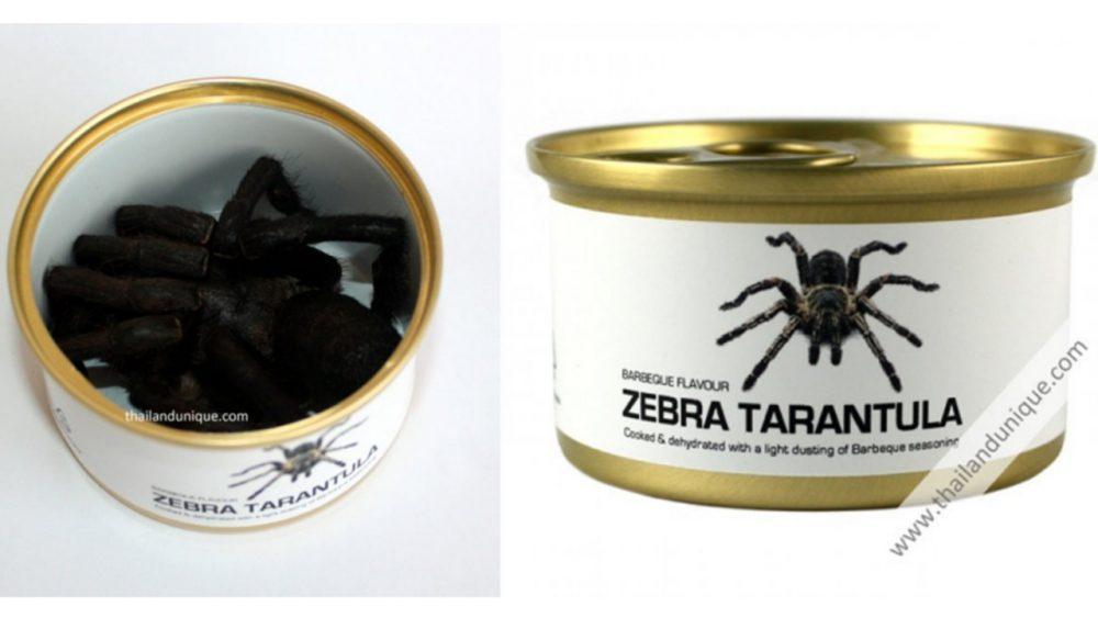 canned BBQ flavor tarantula