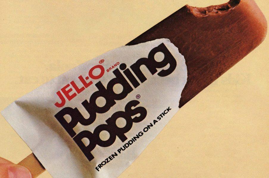 Chocolate pudding pop, still half in wrapper