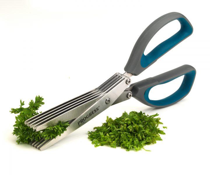 Five Blade Herb Scissors cutting herbs