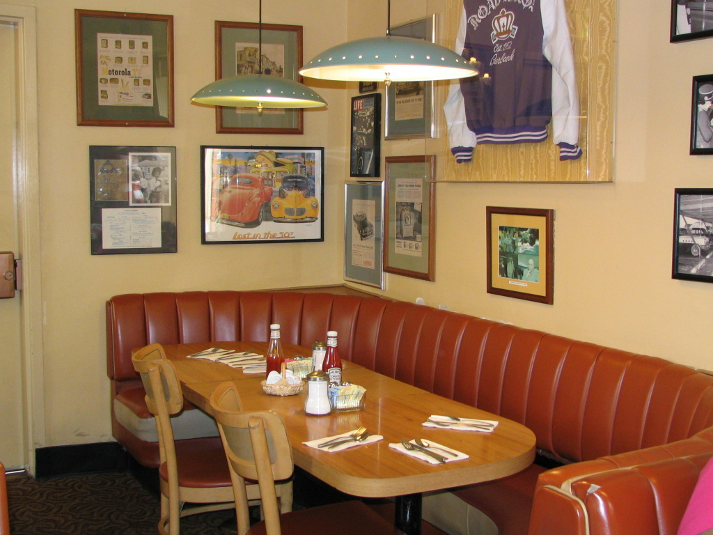 Beatles booth at big boy restaurant