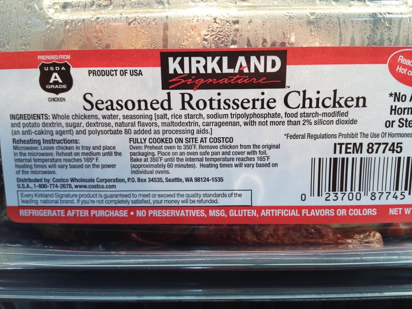 Costco Chicken Ingredients