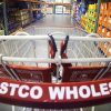 The Costco shopping cart awaits