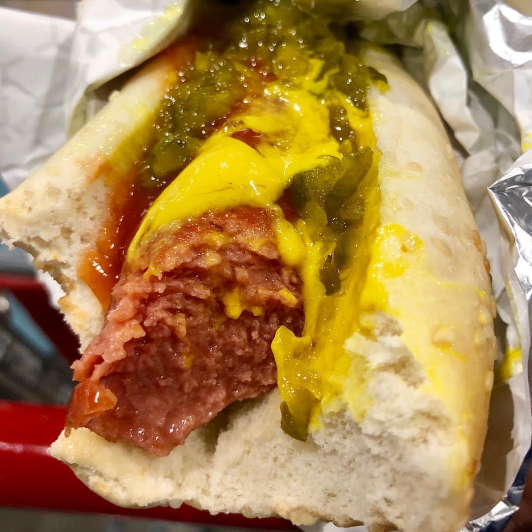 Costco Hot Dog Close Up