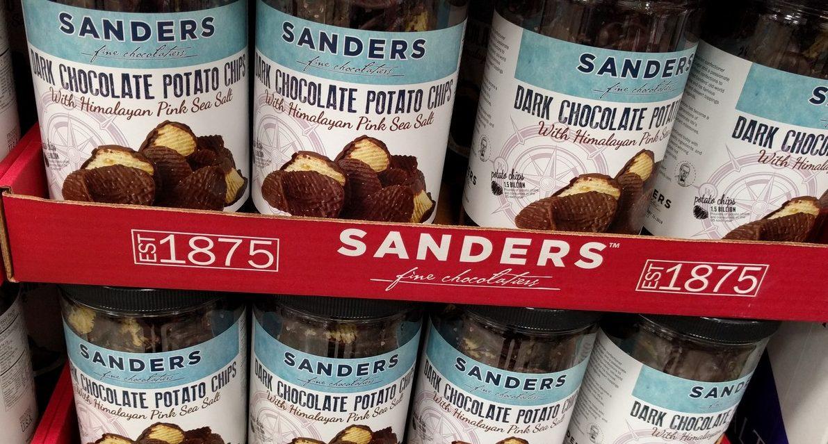 Sanders Dark Chocolate Potato Chips