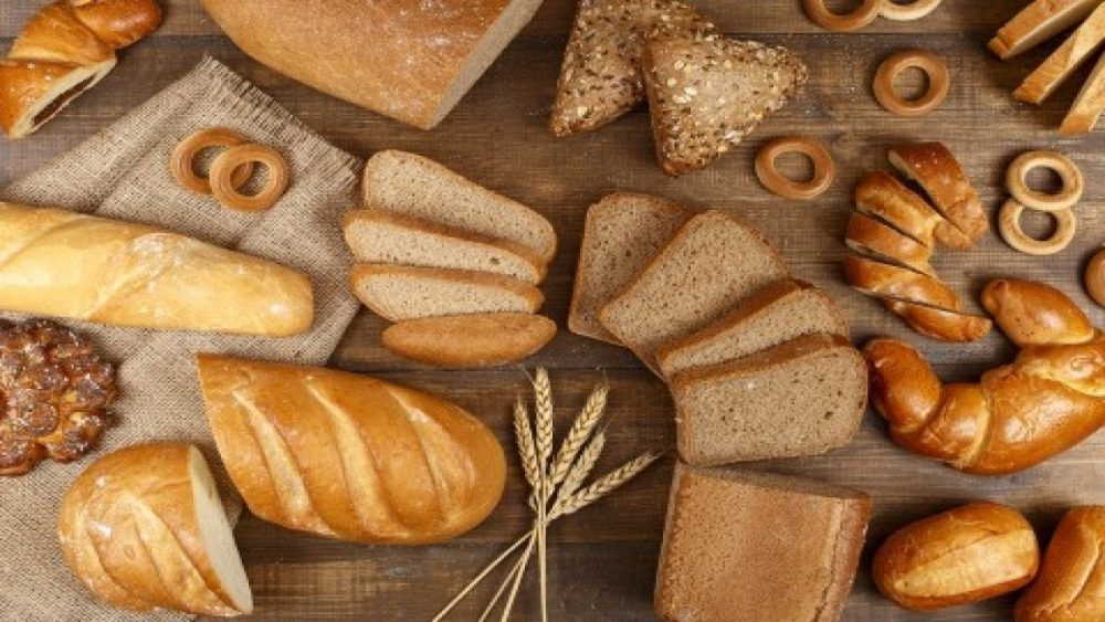 wide variety of different breads