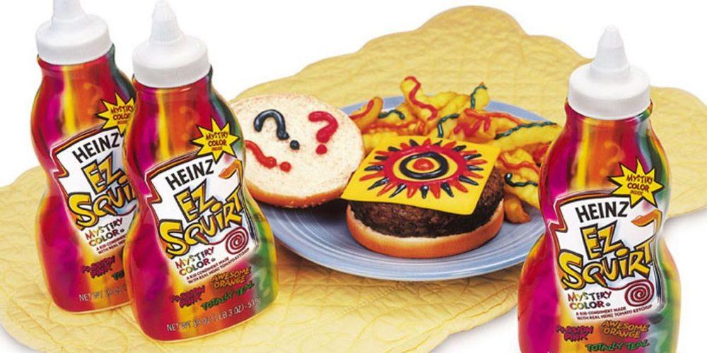 mystery ez squirt ketchup and hamburger