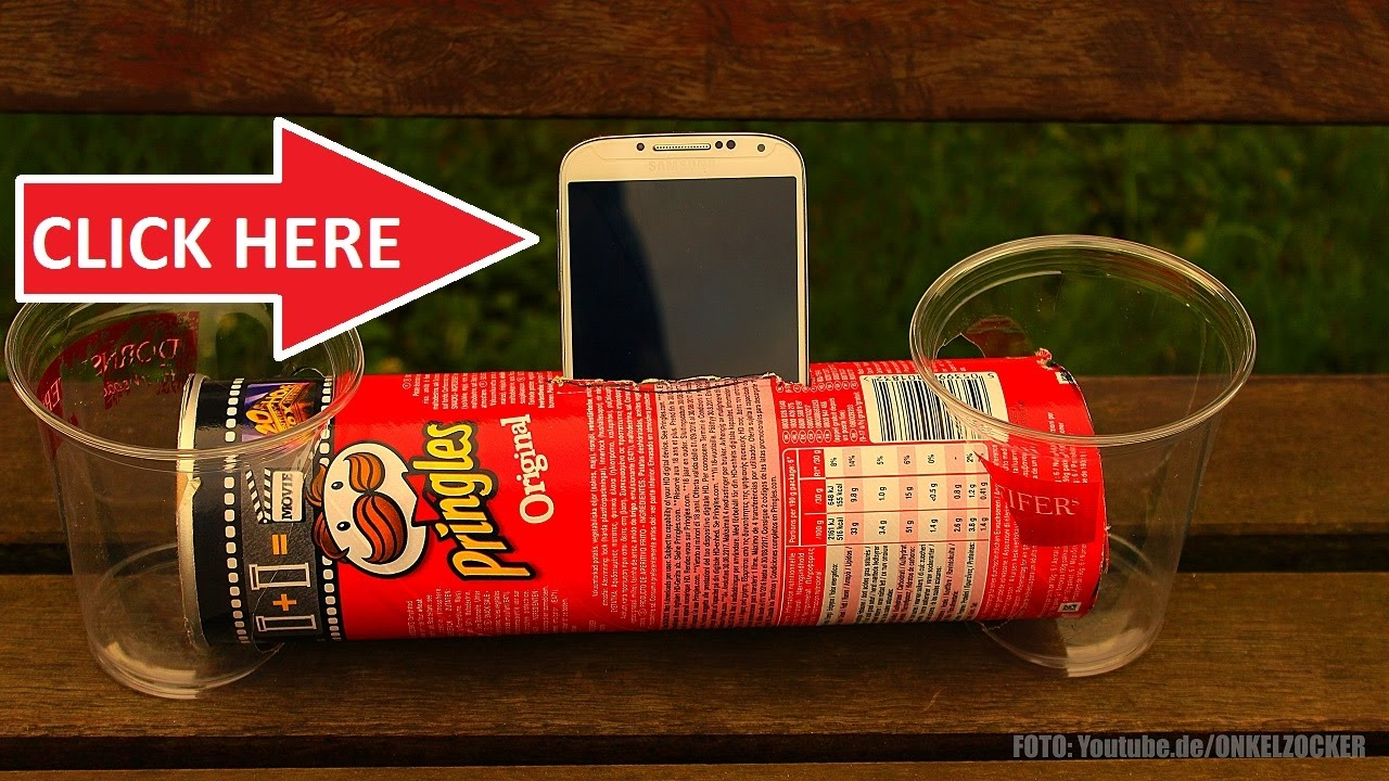 Pringles can can be made into speakers