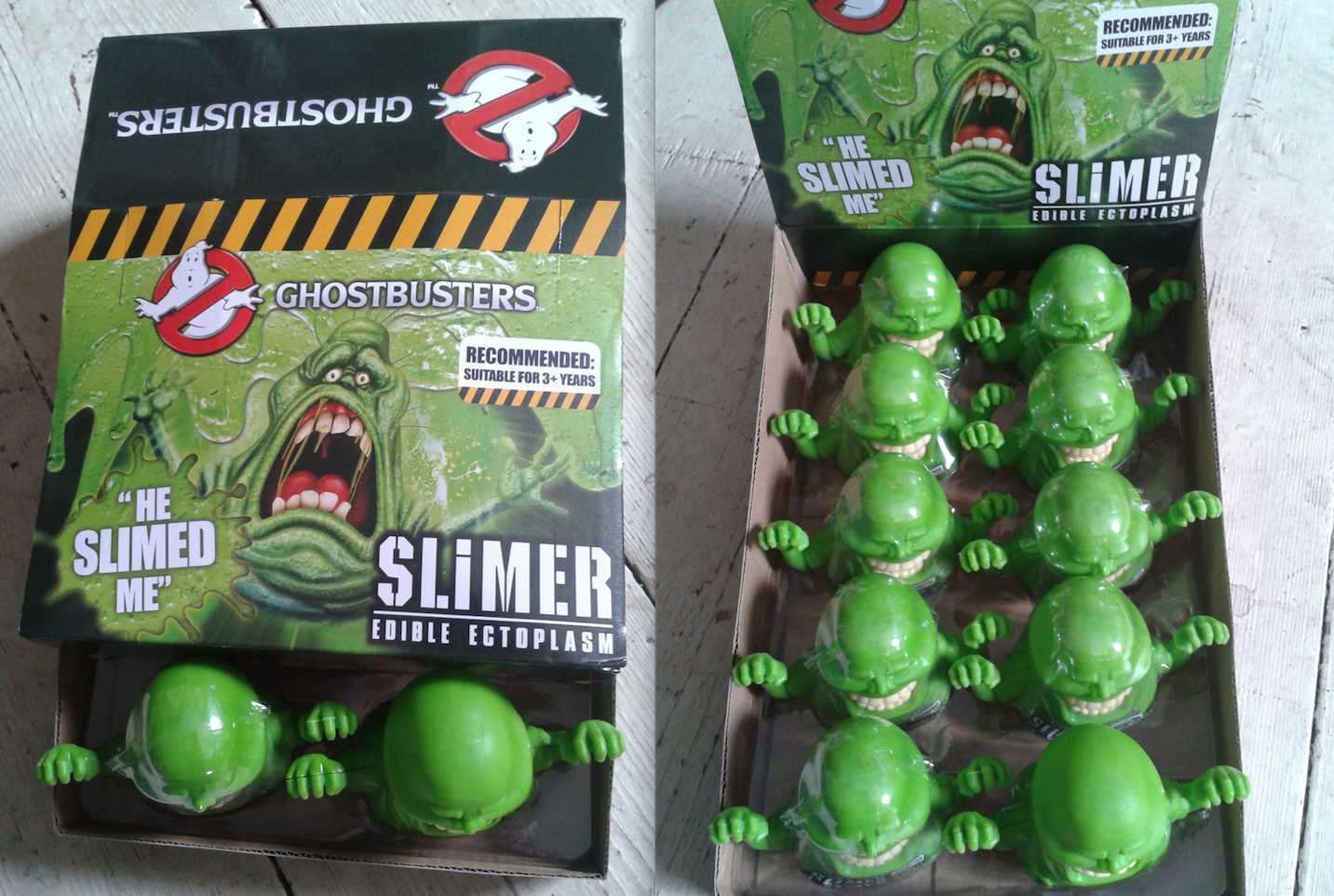 slimer candy ectoplasm in display box